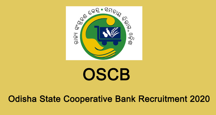 Odisha State Cooperative Bank OSCB Various Post Online Form 2020