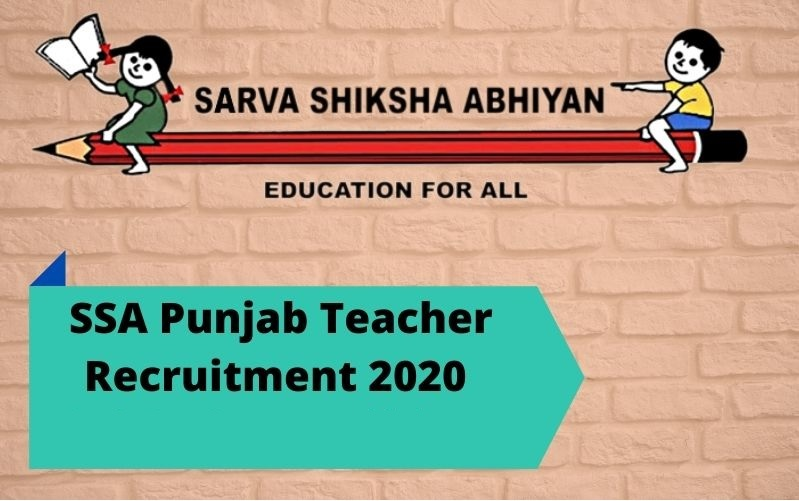 SSA Punjab ETT Teacher Online Application Form 2020